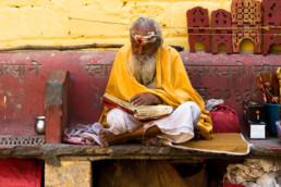 Reisefotoreportage: Sadhu in Rishikesh, Indien - Copyright Thomas Effinger