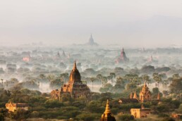 Pagodes of Bagan, Myanmar - nature panorama photo print, photo poster, fine art print