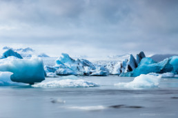 Glacier lake Jökulsarlon, Iceland - nature panorama photo print, photo poster, fine art print