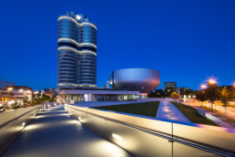BMW Museum at night - Copyright Thomas Effinger, architecture photographer, Munich