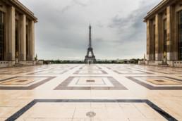 Eiffelturm vom Palais de Chaillot, Trocadero, Paris
