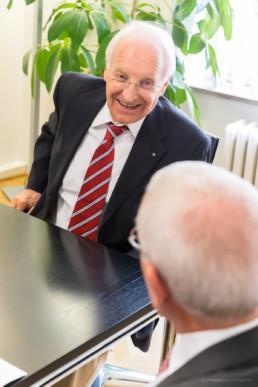 Dr. Edmund Stoiber, CSU, Pressefotos Interview | © T. Effinger