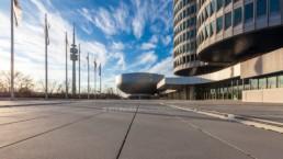 Architekturfotografie: BMW Museum München, BMW Hochhaus, Olympiaturm   7760   © Effinger