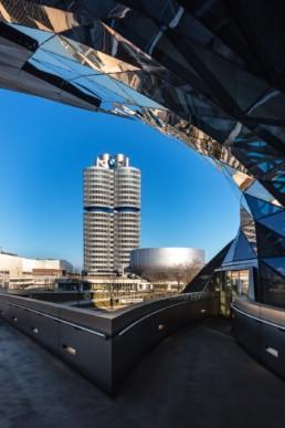 Architekturfotografie: BMW Museum München, BMW Hochhaus Vierzylinder   6029   © Effinger