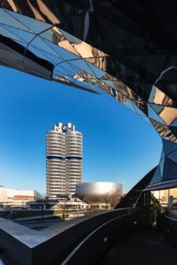 Architekturfotografie: BMW Museum München, BMW Hochhaus Vierzylinder   6067   © Effinger