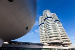Architecture photography: BMW Museum Munich, BMW Tower four-cylinder   7745   © Effinger