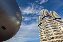 Architecture photography: BMW Museum Munich, BMW Tower four-cylinder  7772   © Effinger
