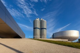 Architecture photography: BMW Museum Munich, BMW Tower four-cylinder   7777   © Effinger