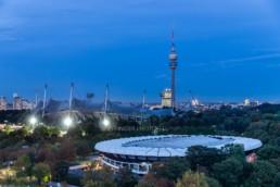 Architekturfotografie: Olympiapark München, Olympiastadion, Olympiaturm | 1099 | © Effinger