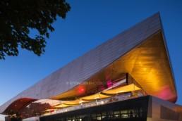 Architekturfotografie: BMW Welt München bei Nacht   4650   © Effinger