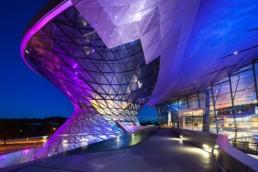 Architekturfotografie: BMW Welt München Helix bei Nacht   4842   © Effinger