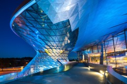 Architekturfotografie: BMW Welt München Helix bei Nacht   4845   © Effinger