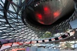 Architekturfotografie: BMW Welt München Innenraum Helix   1459   © Effinger
