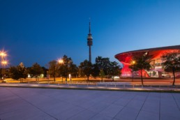 Architecture photography: BMW World Munich, Olympic Tower   9952   © Effinger
